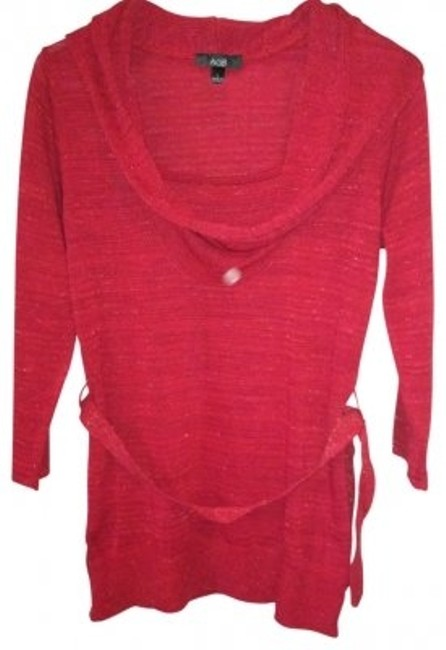 Preload https://item5.tradesy.com/images/agb-red-long-sleeve-belted-cowlneck-tunic-size-12-l-33169-0-0.jpg?width=400&height=650