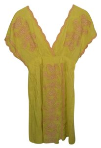 Charming Charlie short dress yellow Summer Embroidered on Tradesy
