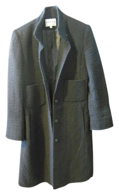 Oscar de la Renta Vintage Tweed Wool Coat