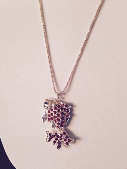 Betsey Johnson Red Crystal Gold-Tone Goldfish Long Necklace Image 1