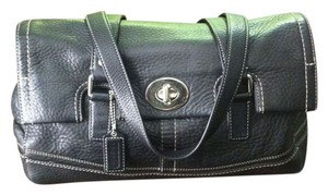 Coach Women Leather Black Clutch