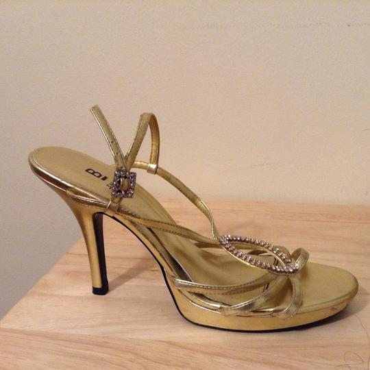 Bakers Studded Gold Sandals