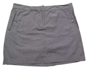 Izod Skort Dark Gray with White Pinstripes