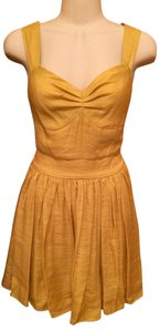 the Adison Story short dress Yellow on Tradesy