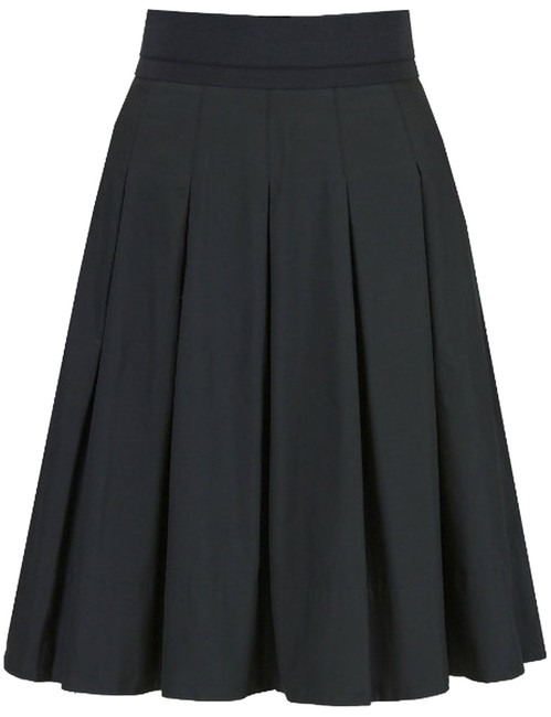 Preload https://img-static.tradesy.com/item/3322054/dkny-black-pleated-knee-length-skirt-size-6-s-28-0-0-650-650.jpg