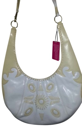 BCBGeneration Cresent Leather Emblishments New With Tags Hobo Bag