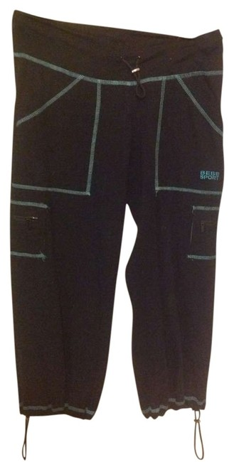 bebe Capris Black and blue