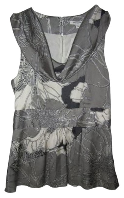 Preload https://item5.tradesy.com/images/banana-republic-gray-black-and-white-with-scoop-neck-pearl-button-detail-blouse-size-6-s-33239-0-0.jpg?width=400&height=650