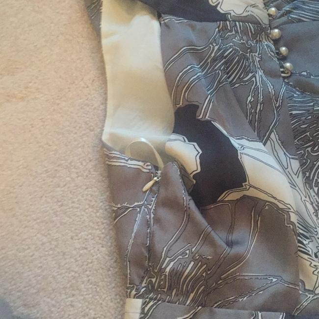 Banana Republic Top Gray, Black and White