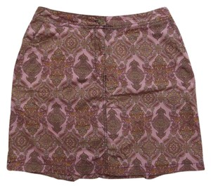 Karen Scott Skort Pink with Multi Color Geometric Print