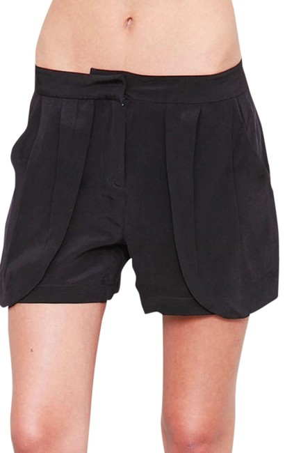 Preload https://item2.tradesy.com/images/funktional-black-silk-pleated-pocket-shorts-size-8-m-29-30-332426-0-0.jpg?width=400&height=650