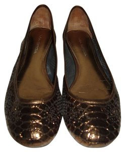Via Spiga Comfortable Metallic Bronze Flats
