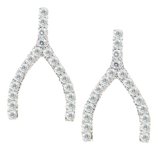 Other Wish Bone CZ Earring