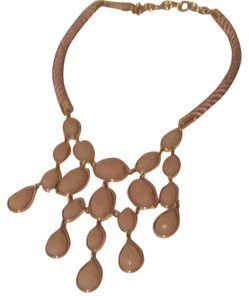 Ann Taylor Rose Colored Bib Necklace