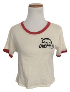 Forever 21 Logo California Republic T Shirt Cream