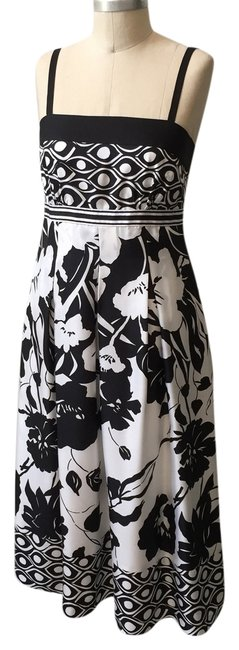 Black & White Maxi Dress by White House | Black Market Midi Contrast & Silk Spaghetti Strap Mixed Print