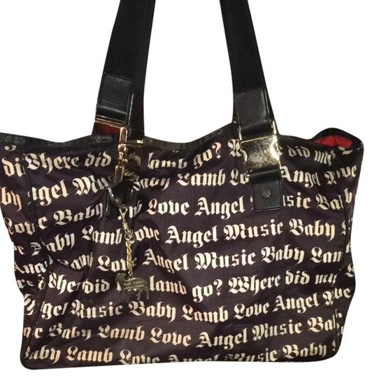 Preload https://item2.tradesy.com/images/lesportsac-limited-edition-love-angel-music-baby-carry-all-black-and-white-nylon-shoulder-bag-3324946-0-0.jpg?width=440&height=440