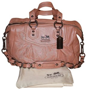 Coach Rose Embroidered Satchel
