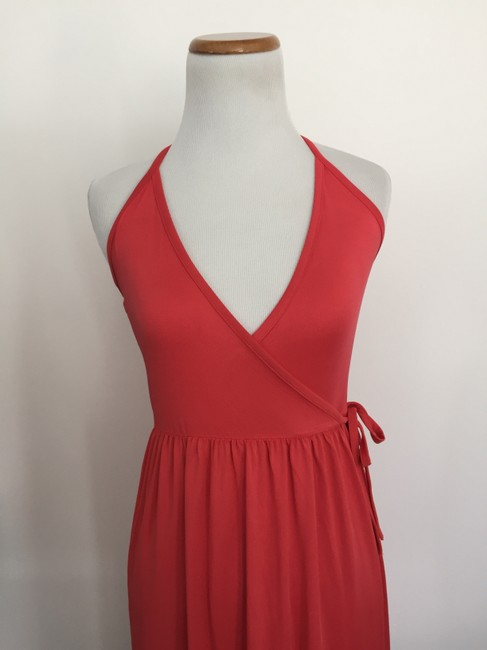 Red Maxi Dress by Feathers Halter Statement