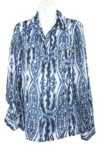 Anne Klein Ak Print Shirt Button Down Shirt