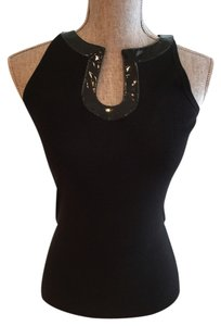 Sleeveless Black Halter Top