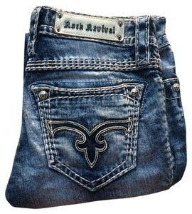 Rock Revival Capri/Cropped Denim-Acid
