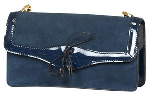 Fratelli Rossetti Shoulder Leather Blue Clutch