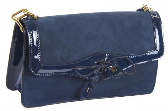 Fratelli Rossetti Shoulder Leather Blue Clutch Image 2