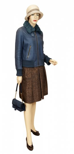 Fratelli Rossetti Shoulder Leather Blue Clutch Image 4