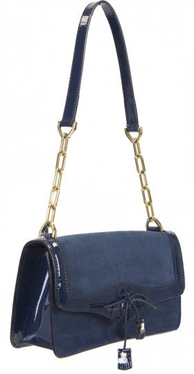 Fratelli Rossetti Shoulder Leather Blue Clutch Image 5