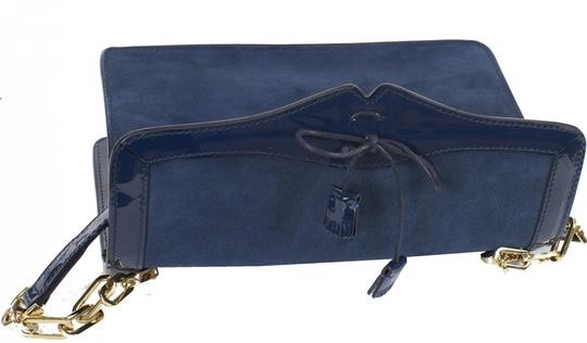 Fratelli Rossetti Shoulder Leather Blue Clutch Image 6