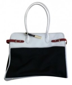 Jones New York Large Practical Tote in Black, white, red