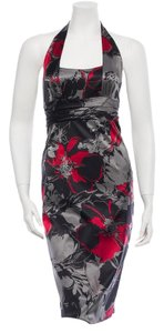 David Brooks Halter Floral Dress