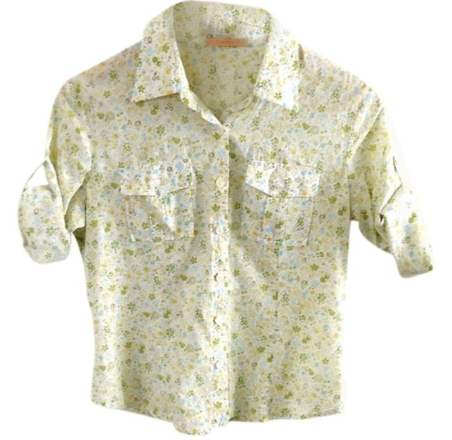 Forever 21 Cotton Fitted Button Down Shirt floral Image 0