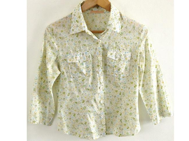 Forever 21 Cotton Fitted Button Down Shirt floral Image 1