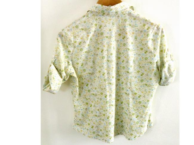 Forever 21 Cotton Fitted Button Down Shirt floral Image 2