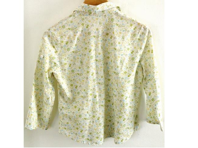 Forever 21 Cotton Fitted Button Down Shirt floral
