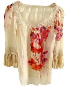 Holly Morgan Hand-painted Silk Top floral