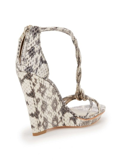 Brian Atwood Black/White Wedges
