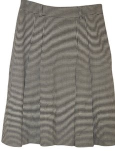 Jones New York Houndstooth Pleated Skirt Black/white