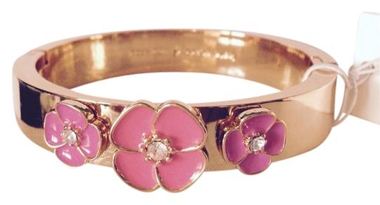 Kate Spade Kate Spade Flutter Floral Pink Hinged Enameled Crystal Bangle Only! Matching Pieces Sold Seperately.