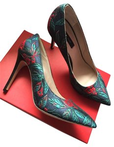 Marc Jacobs Green Red Navy Pumps