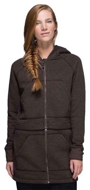 Item - Bark Chocolate Long & Short Of It Jacket Activewear Outerwear Size 6 (S, 28)