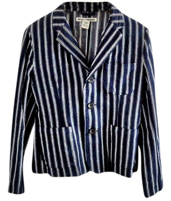 Loves Peace Bold Stripe blue Blazer