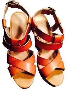ALDO Brown leather Platforms