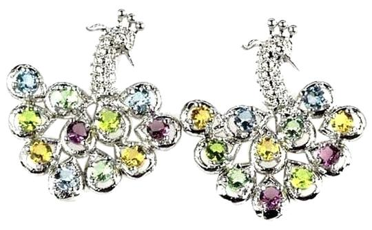 Preload https://item2.tradesy.com/images/other-blue-topaz-green-sapphire-and-peach-morganite-peacock-earrings-3326821-0-0.jpg?width=440&height=440