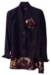Kasper Kasper Black Suit With Skirt