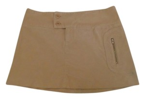 Laundry by Shelli Segal Corduroy Mini Mini Skirt Tan