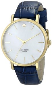 Kate Spade kate spade new york Women's Metro Denim Blue Croc-Embossed Leather Strap Watch 34mm 1YRU0537