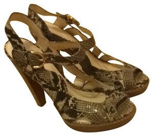 Coach Green Snakeskin Pumps